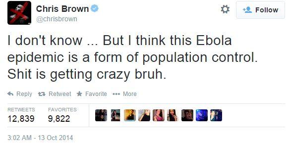 Chris Brown Ebola