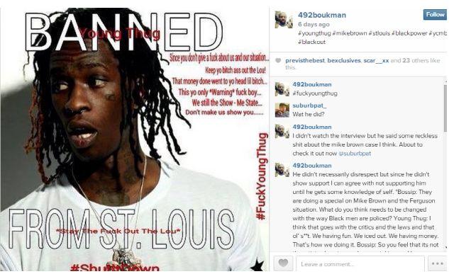 Young Thug ban
