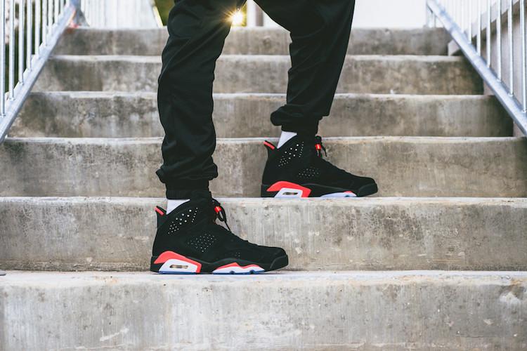 """The Air Jordan 6 """"Black/Infrared"""