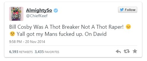 Chief Keef Cosby Tweet