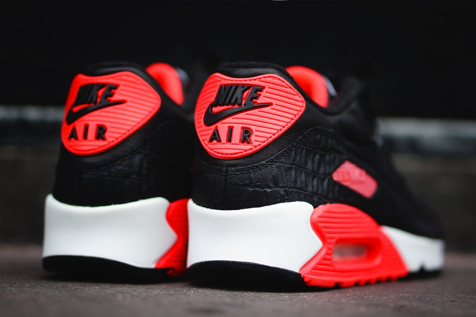 Nike Air Max 90 'Infrared Croc' :: Hip Hop Lately