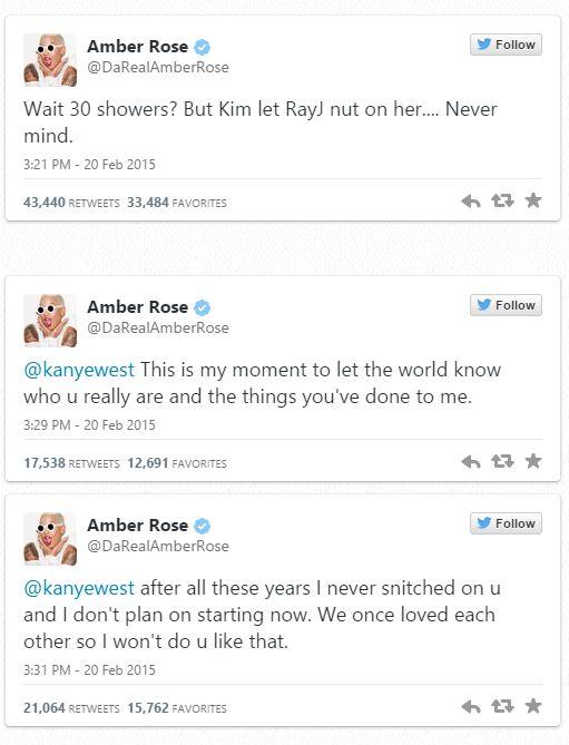 Amber rose ye tweet