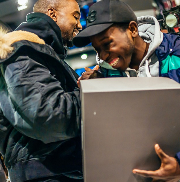 Kanye West Hand Delivers First Pairs Of Yeezy Boost