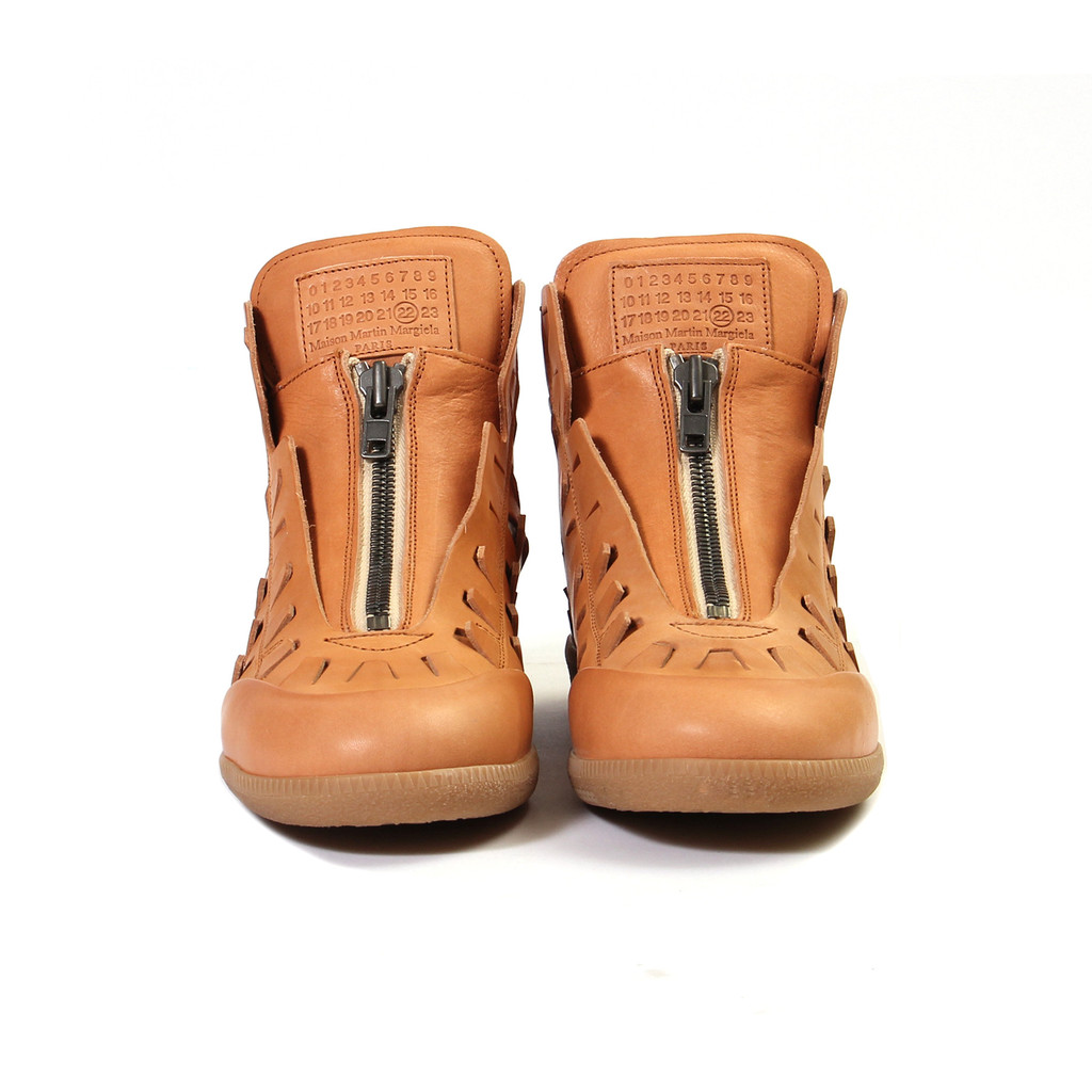 "Maison Margiela Zip-Up High Top ""Natural"""