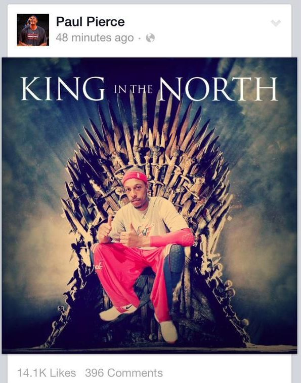 Paul Pierce King Of The North