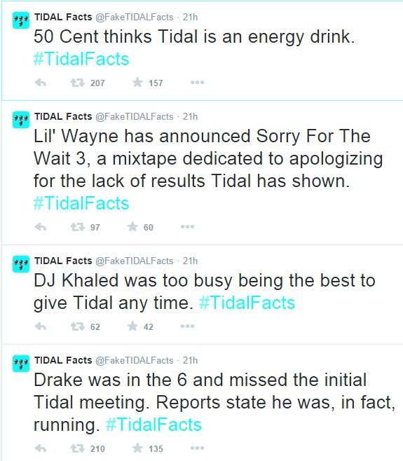 Tidal Facts