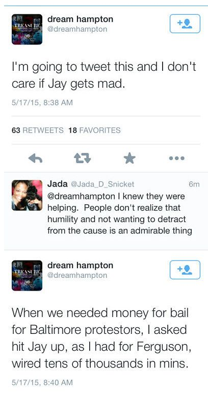 Dream hampton tweet