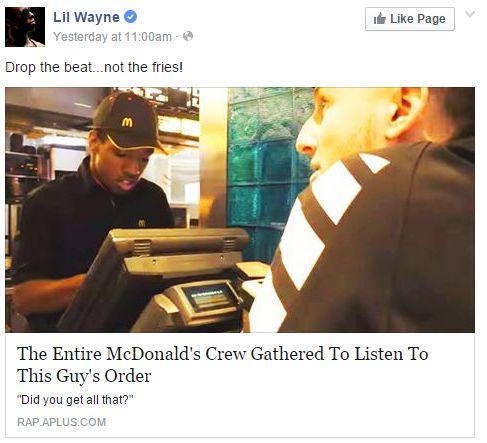 Lil Wayne mcdonalds