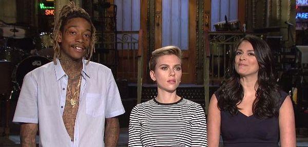 Wiz Khalifa And Scarlett Johansson Compare Tattoos In 'Saturday Night Live' Promo