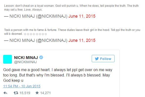 Nicki tweet 1