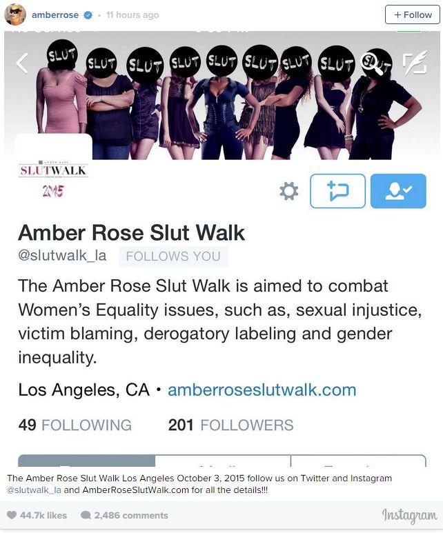 Amber Rose slut walk 1