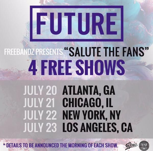 Future Announces Four Free Shows