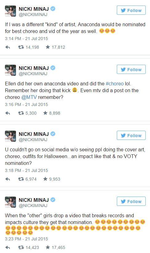Nicki tweets swift