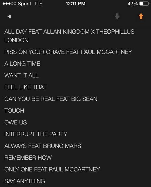 tracklist Swish