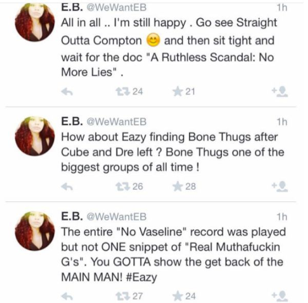 Eazy-E's Daughter Thinks 'Straight Outta Compton' Didn't Do Her Dad Justice