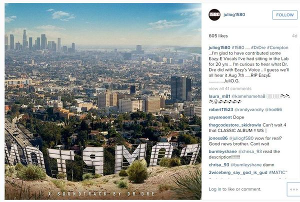 Eazy-E To Be Featured On Dr. Dre's 'Compton'?