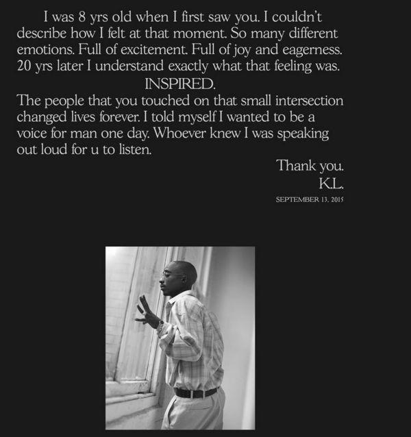 Kendrick Lamar Writes Tribute On 19th Anniversary Of Tupac's Death