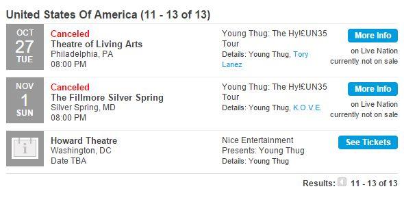 Thug tour