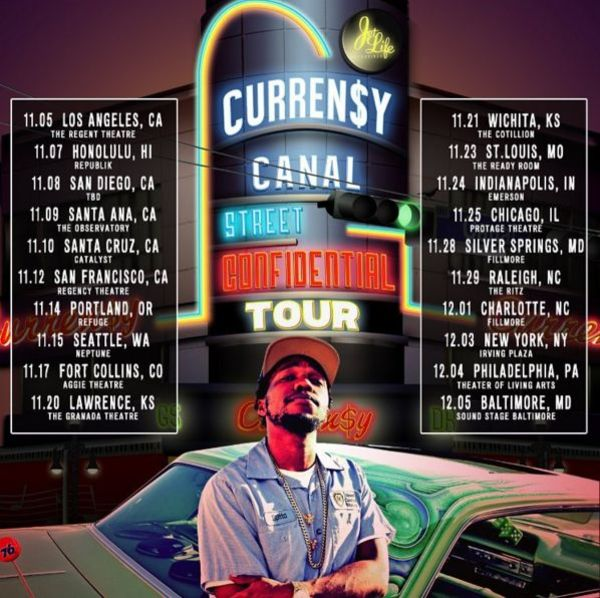 Curren$y Hitting The Road For 'Canal St. Confidential' Tour