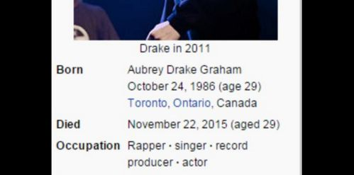 Drake dead a