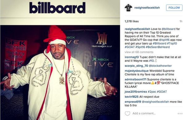 Ghostface Killah, Snoop Dogg & Jay Electronica Respond to Billboard's 'Greatest Rappers' List