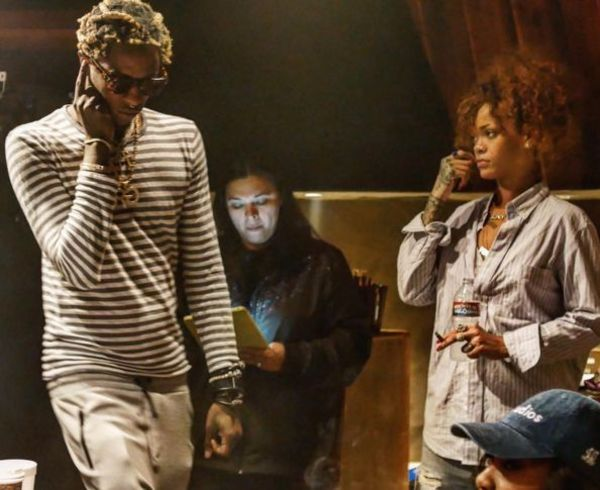 Young Thug & Rihanna Spotted In The Studio