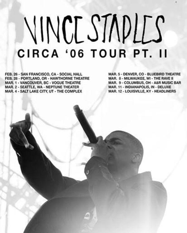 Vince Staples Announces 'Summertime '06' Tour