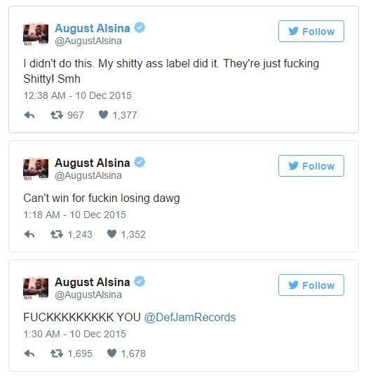 Alsina tweet