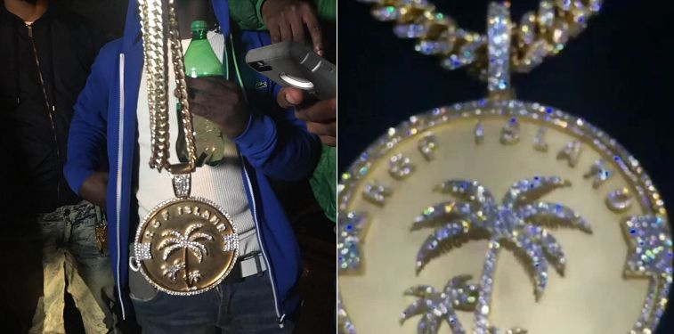 it looks like fetty wap had his chain snatched hip hop