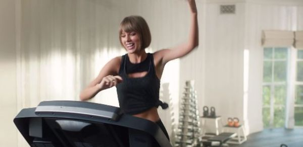 Taylor Swift Bites It On Treadmill While Rapping Drake & Future's 'Jumpman'