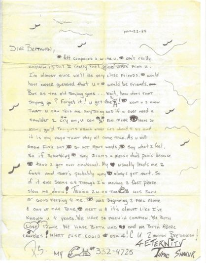 Tupac letter bet