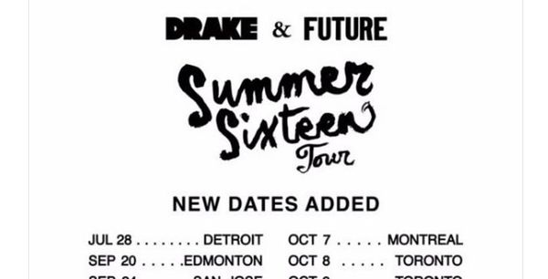 Drake And Future Add Additional 'Summer Sixteen' Tour Dates