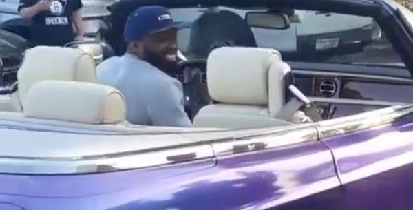 50 Cent Rolls Into The Bronx In A Really Fancy Car [VIDEO]