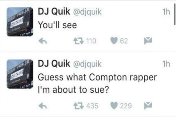 DJ Quik Claims He's About To Sue A Known Rapper From Compton