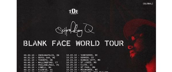 ScHoolboy Q Is Going On A Huge World Tour From August Until December