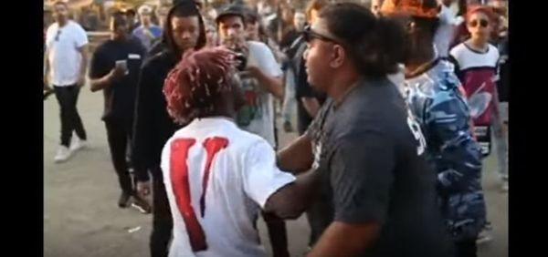 Lil Uzi Vert Runs Up On Rival Rapper [VIDEO]