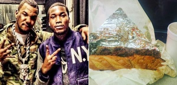 Did Meek Mill Catch The Game Engaging In Cheesesteak Fakery?