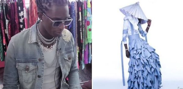 Watch Young Thug Pick Out His 'Jeffery' Cover Dress