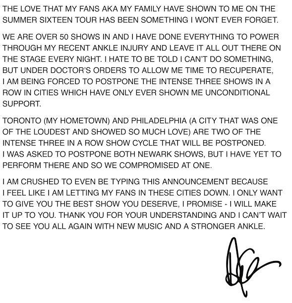 Drake message