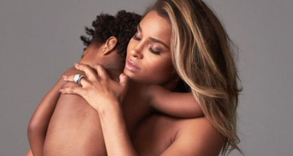 Twitter Has Opinions On Ciara's Weird Naked Family Photo