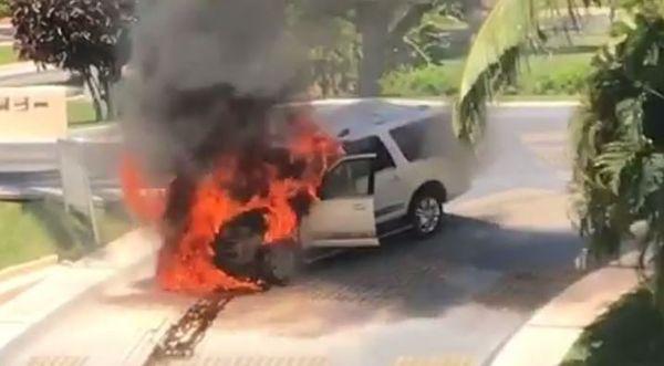 Waka Flocka Flame's Car Burns In Mexico [VIDEO]