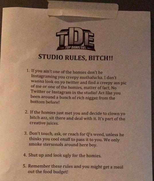 studio-rules