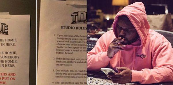 ScHoolboy Q Posts The TDE Studio Rules