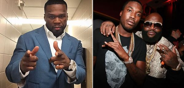 Rick Ross Seems Pissed That Meek Mill Shared A Stage With 50 Cent [VIDEO]