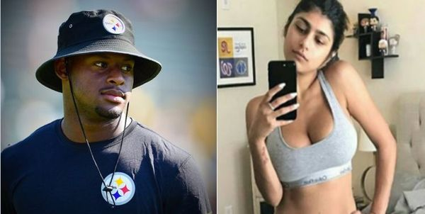 JuJu Smith-Schuster Latest Athlete To Curve Mia Khalifa