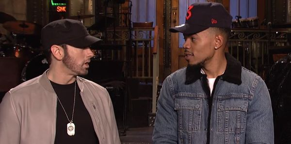 Eminem And Chance The Rapper Perform on 'Saturday Night Live'