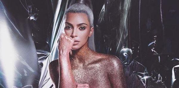Kim Kardashian Sparkles In Latest Topless Photos