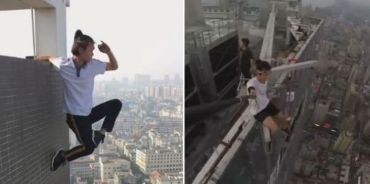 Famed Chinese Quot Rooftopper Quot Films Own Death During