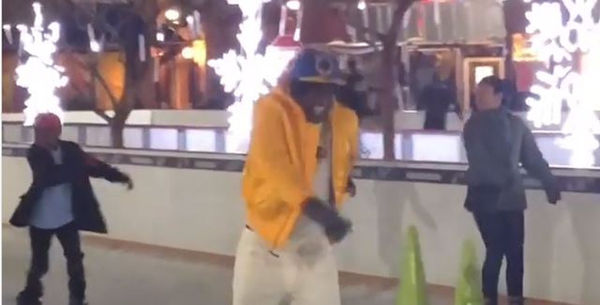 Boosie Badazz Tries To Ice Skate [VIDEO]