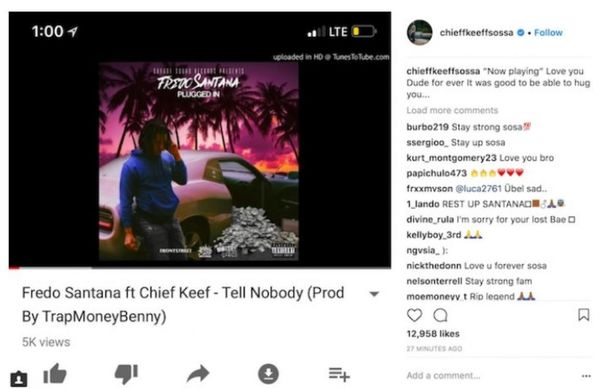 Chief Keef Reminds Everyone Fredo Santana Was More Than Just A Friend